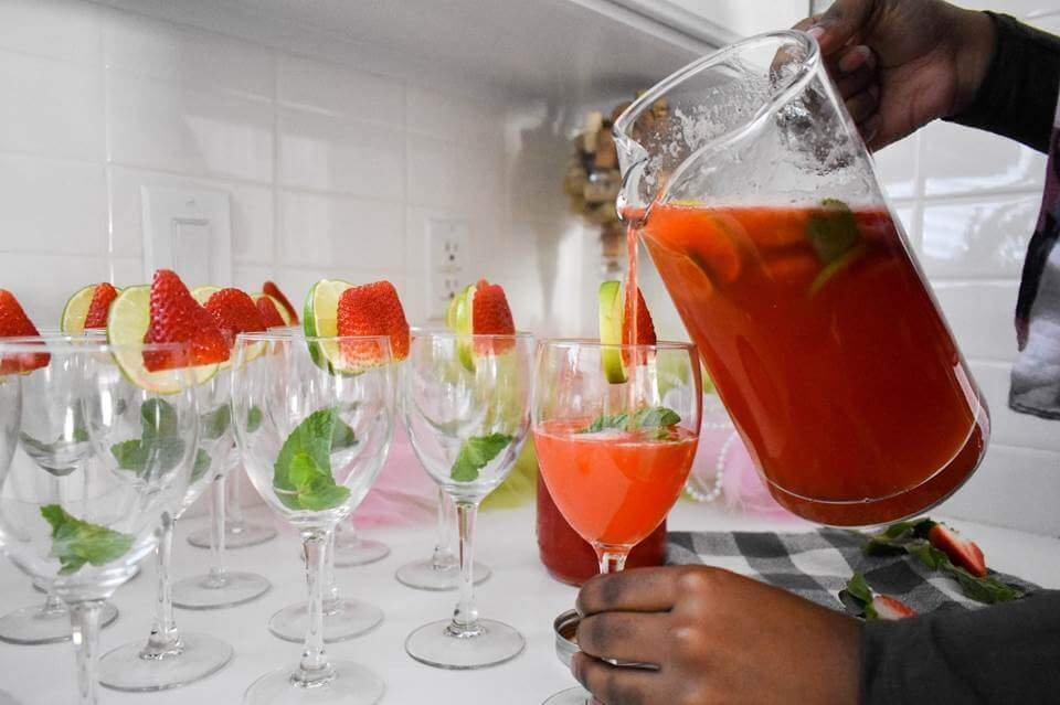 Sparkling Strawberry Mint Limeade by Dash of Jazz