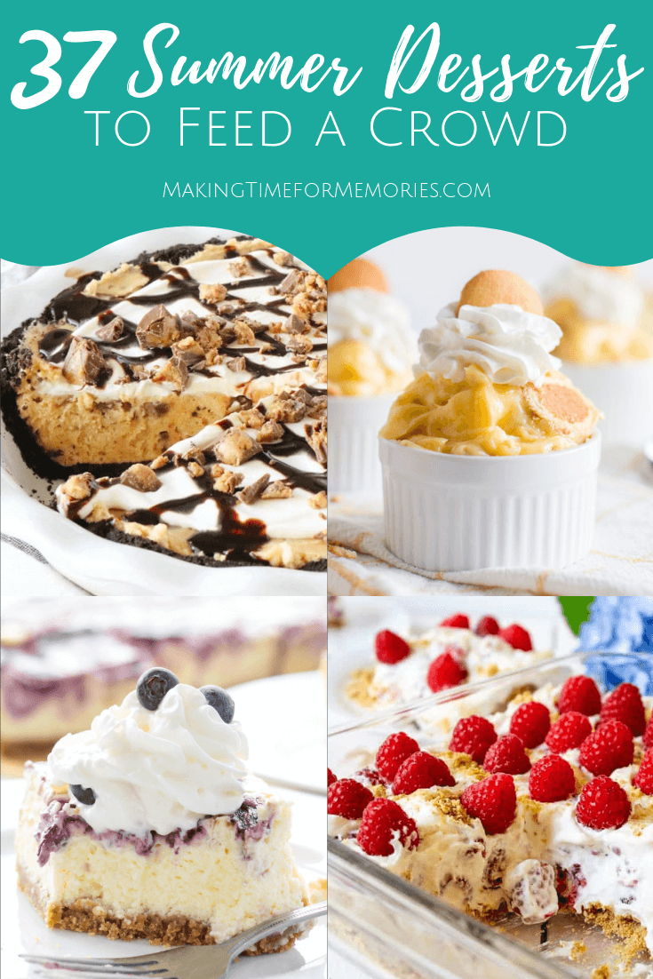 37 Summer Desserts to Feed a Crowd ~ #desserts #recipes #summerdesserts #PotluckPerfectDishes #PotluckPerfectDesserts