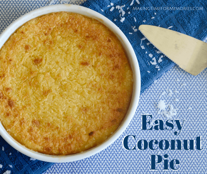 Easy Coconut Pie ~ #coconutpie #recipe