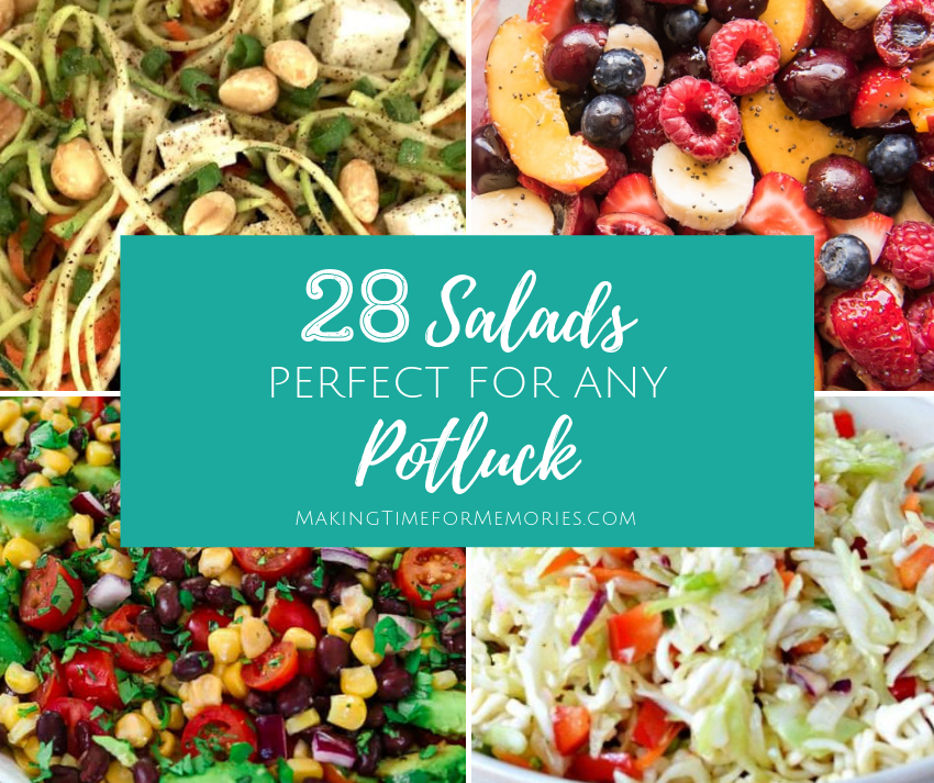 28 Salads Perfect for Any Potluck ~ #potluck #recipes #salads