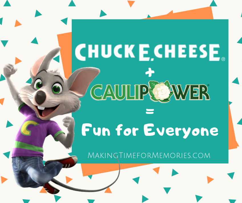 Chuck E. Cheese + CAULIPOWER = Fun for Everyone #ad #ChuckECheese #CAULIPOWER #SuperCauliCrust #pizza
