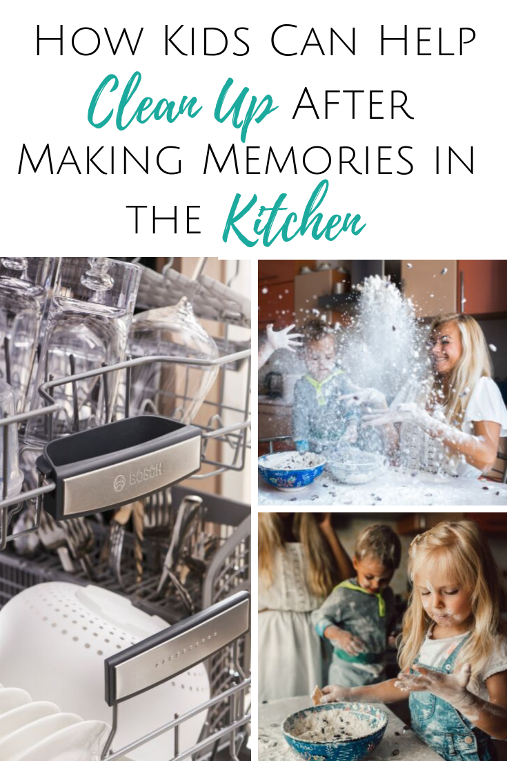 How Kids Can Help Clean Up After Making Memories in the Kitchen ~ #ad @BOSCHHOMEUS @BestBuy #makingtimeformemories #memoriesinthekitchen