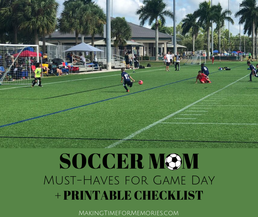 Soccer Mom Must-Haves for Game Day + Printable Checklist ~ #soccermom #printable #checklist