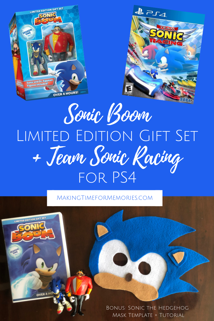 Sonic Boom Limited Edition Gift Set Ps4 Game Giveaway Making Time For Memories