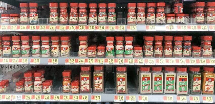 McCormick® spices on Walmart shelves