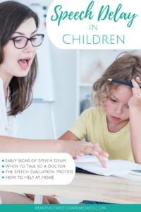 speech therapist and child working on sounds in a book