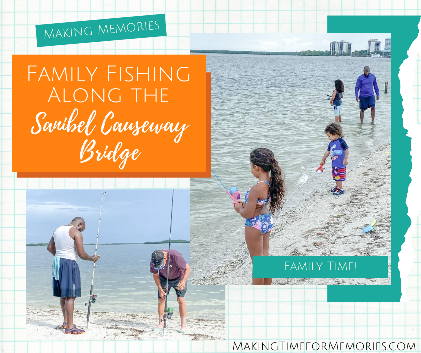 Family Fishing Along the Sanibel Causeway Bridge