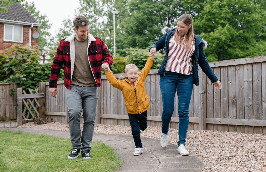 boost your family's immune system - exercise with a family walk through the neighborhood