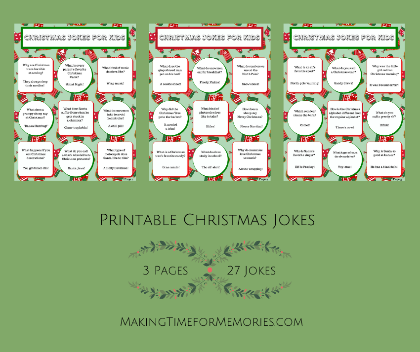 Printable Christmas Jokes