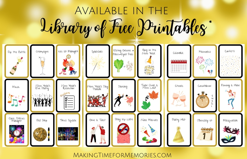 Printable New Year's Eve Charades