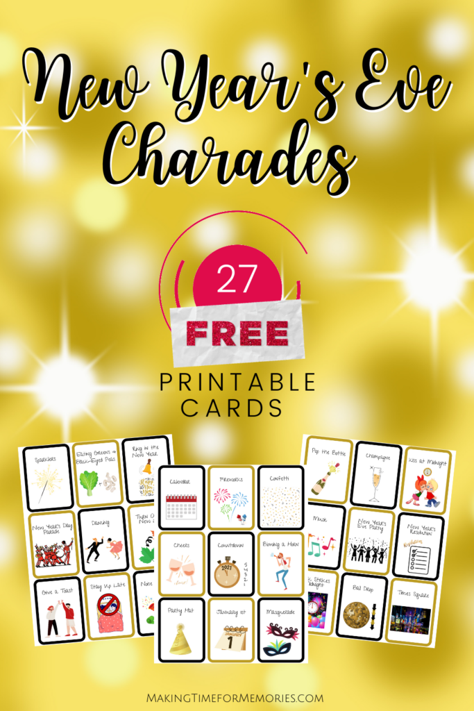 New Year's Eve Printable Charades Cards