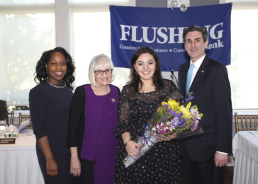 Photo: Angelica with councilwoman Viviana Russell, supervisor Judi Bosworth and town clerk Wayne Wink, Jr.