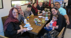 Mahdavian birthday party in Pasdaran coffee shop