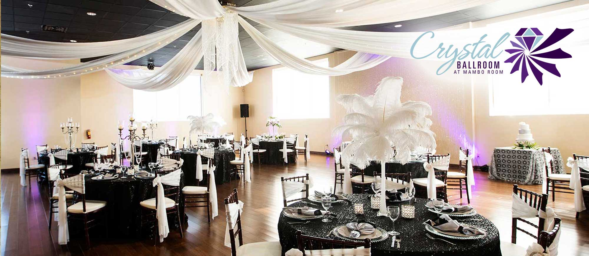 Weddings Crystal Ballroom at Mambo Room
