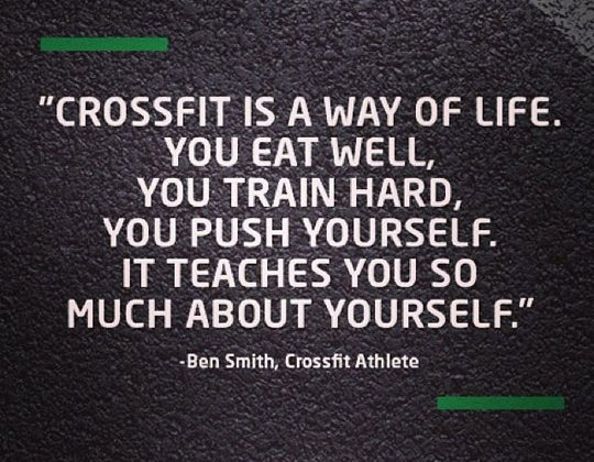 Crossfit is a way of life
