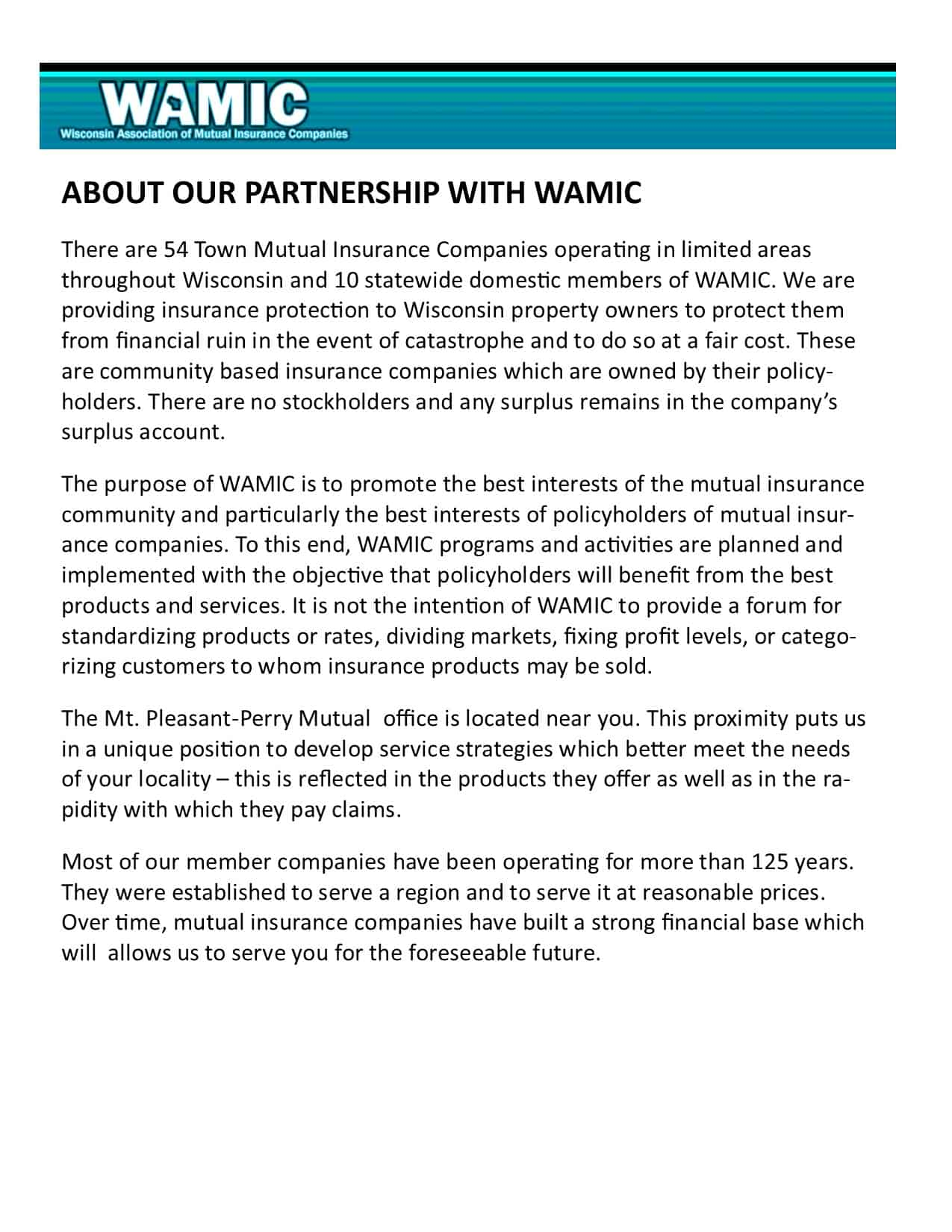 Our Partnership with WAMIC