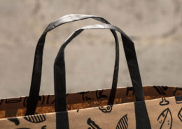 Edge Folded Bag with Flat Handles
