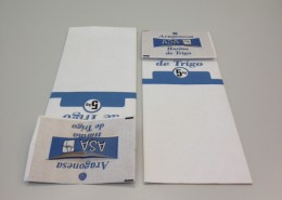 This application allow to punch/die-cut a punched handle in a patch paper for SOS bottom in standard paper sacks making machines.
