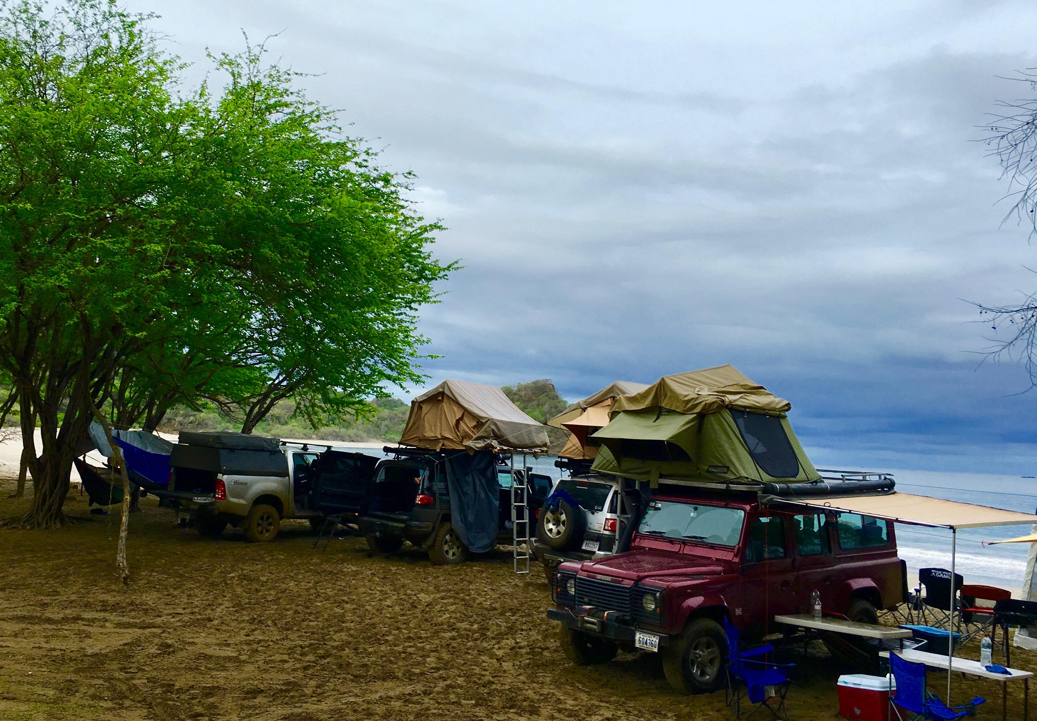 Beach camping in Costa Rica