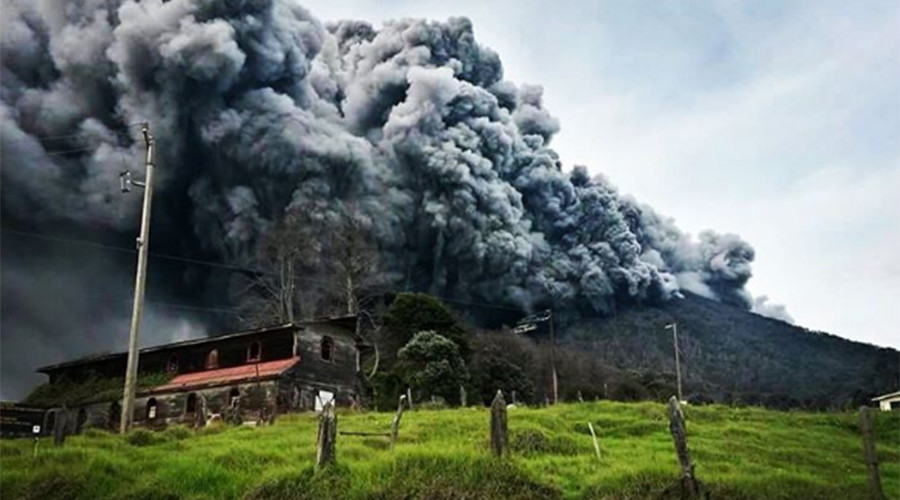 Turrialba Volcano Eruption in Costa Rica - 2016