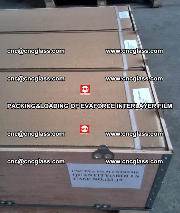 PACKING&LOADING OF EVAFORCE INTERLAYER FILM for safety laminated glass (12)