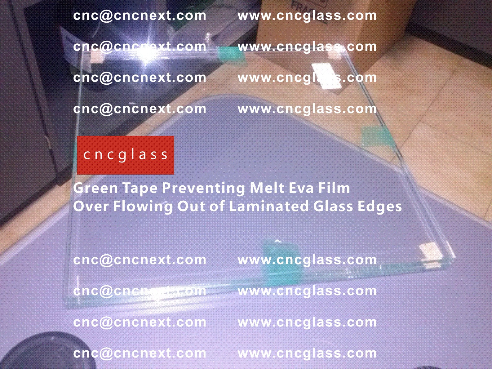 007 Green Tape Preventing Melt Eva Film Over Flowing Out of Laminated Glass Edges