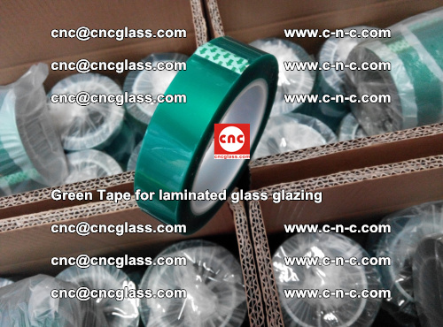 High Temperature PET Silicone Green Tape for Safety glass laminating (16)