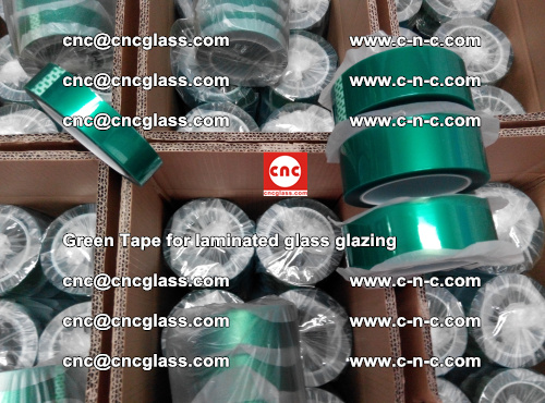 High Temperature PET Silicone Green Tape for Safety glass laminating (31)