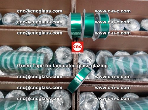 High Temperature PET Silicone Green Tape for Safety glass laminating (36)