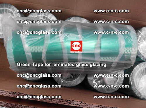 High Temperature PET Silicone Green Tape for Safety glass laminating (43)