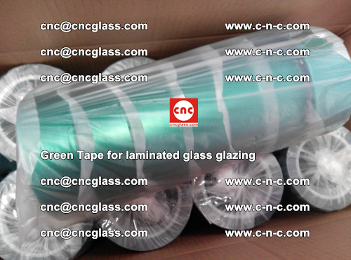 High Temperature PET Silicone Green Tape for Safety glass laminating (45)