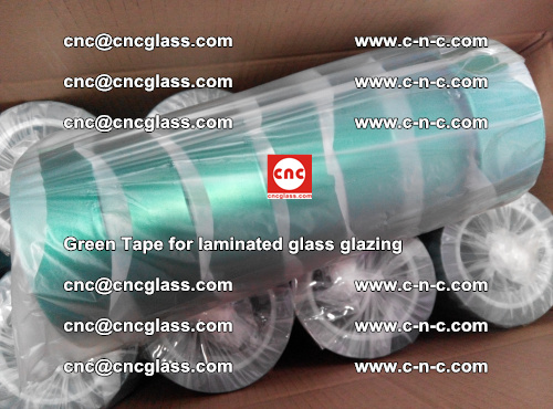 High Temperature PET Silicone Green Tape for Safety glass laminating (46)