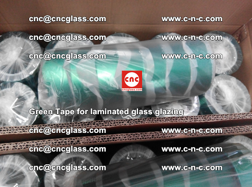 High Temperature PET Silicone Green Tape for Safety glass laminating (47)