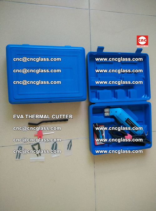 EVA THERMAL CUTTER, Cleaning EVA laminated glass edges (10)