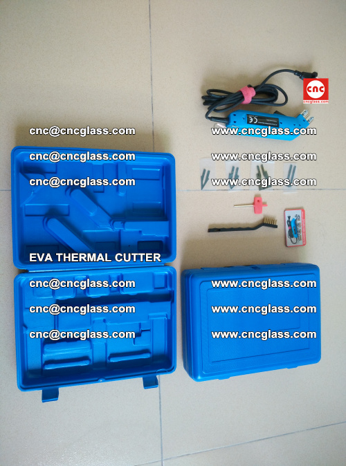 EVA THERMAL CUTTER, Cleaning EVA laminated glass edges (40)