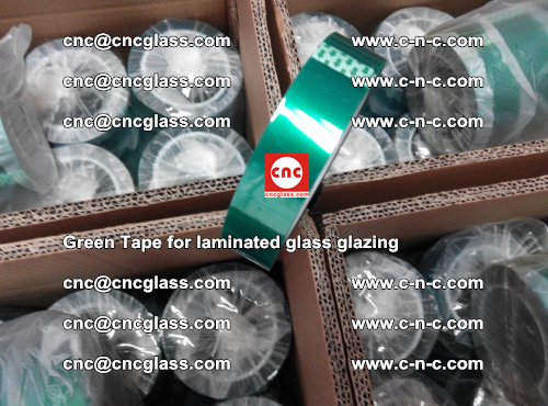 High Temperature PET Silicone Green Tape for Safety glass laminating (14)
