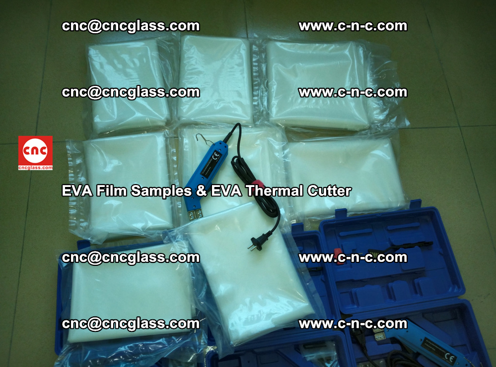 EVAFORCE SUPER CLEAR EVA Film Samples and EVA Thermal Cutter (9)