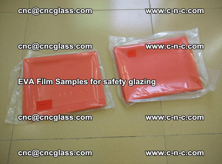 Ethylene Vinyl Acetate EVA FILM INTERLAYER samples for laminated safety glass (12)