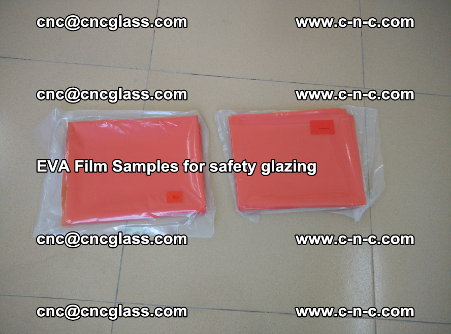 Ethylene Vinyl Acetate EVA FILM INTERLAYER samples for laminated safety glass (18)