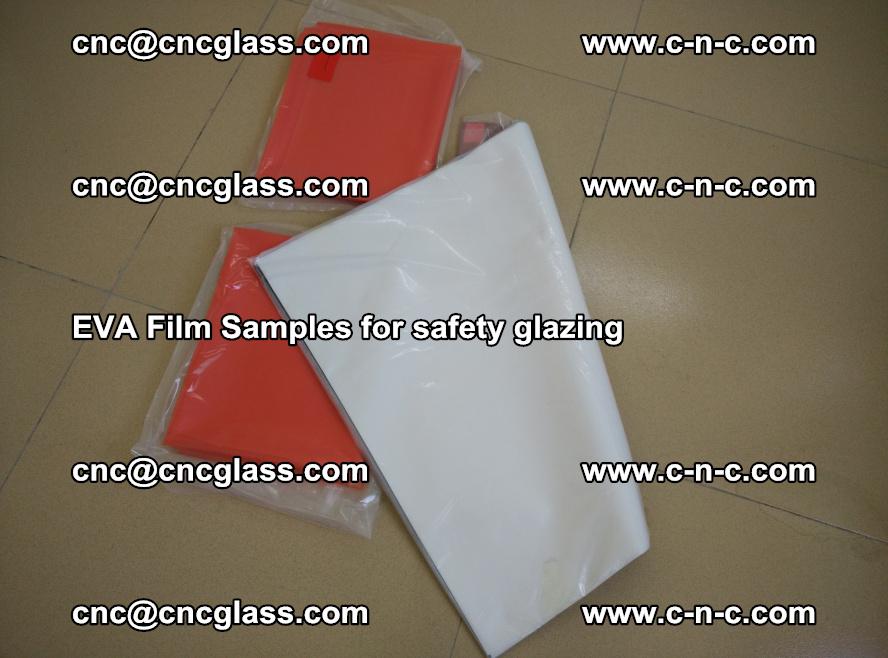 Ethylene Vinyl Acetate EVA FILM INTERLAYER samples for laminated safety glass (45)