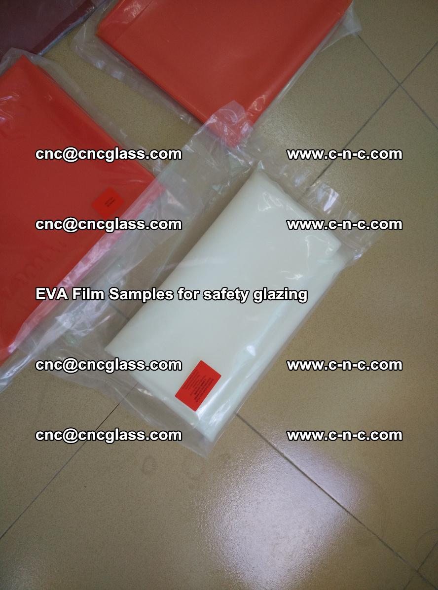 Ethylene Vinyl Acetate EVA FILM INTERLAYER samples for laminated safety glass (48)