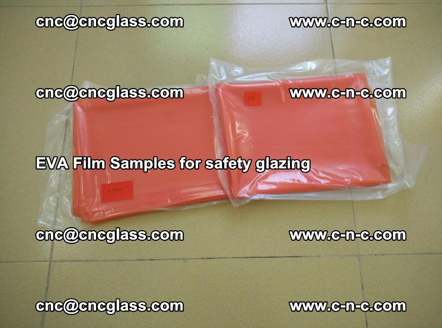 Ethylene Vinyl Acetate EVA FILM INTERLAYER samples for laminated safety glass (5)