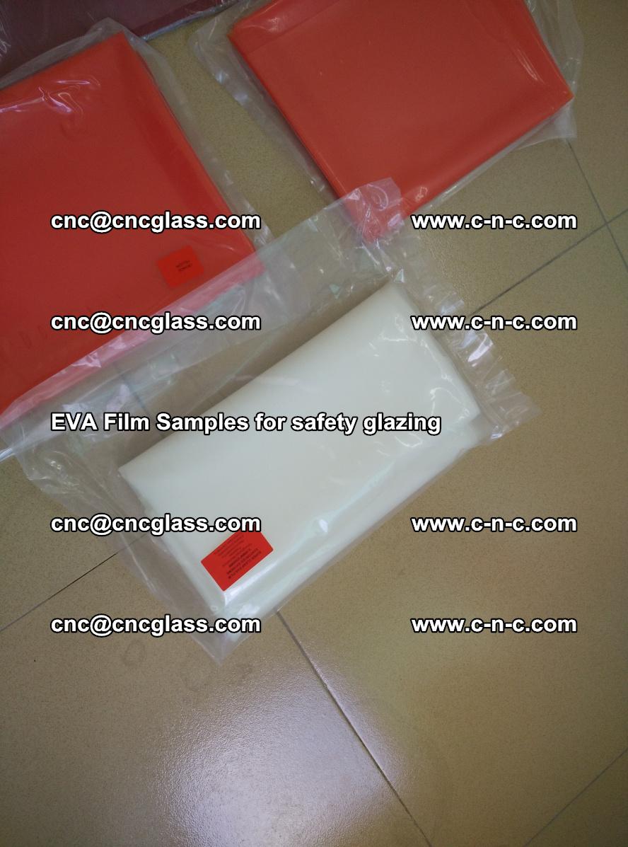Ethylene Vinyl Acetate EVA FILM INTERLAYER samples for laminated safety glass (50)