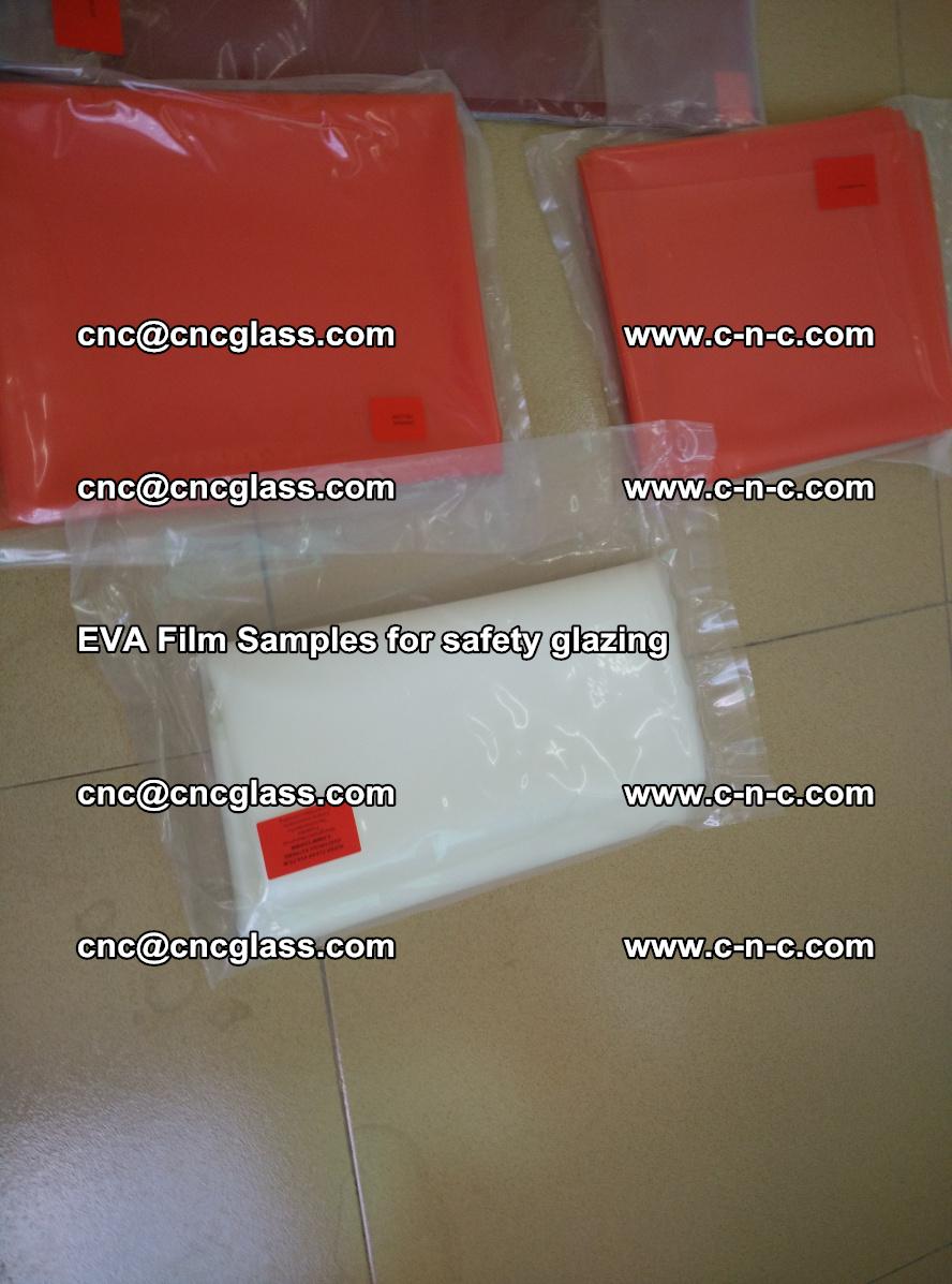 Ethylene Vinyl Acetate EVA FILM INTERLAYER samples for laminated safety glass (51)