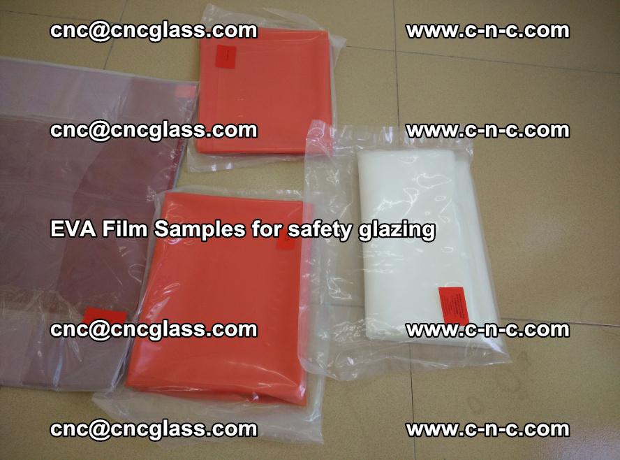 Ethylene Vinyl Acetate EVA FILM INTERLAYER samples for laminated safety glass (54)