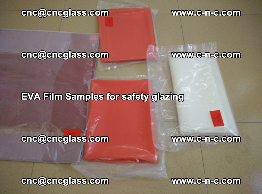 Ethylene Vinyl Acetate EVA FILM INTERLAYER samples for laminated safety glass (55)