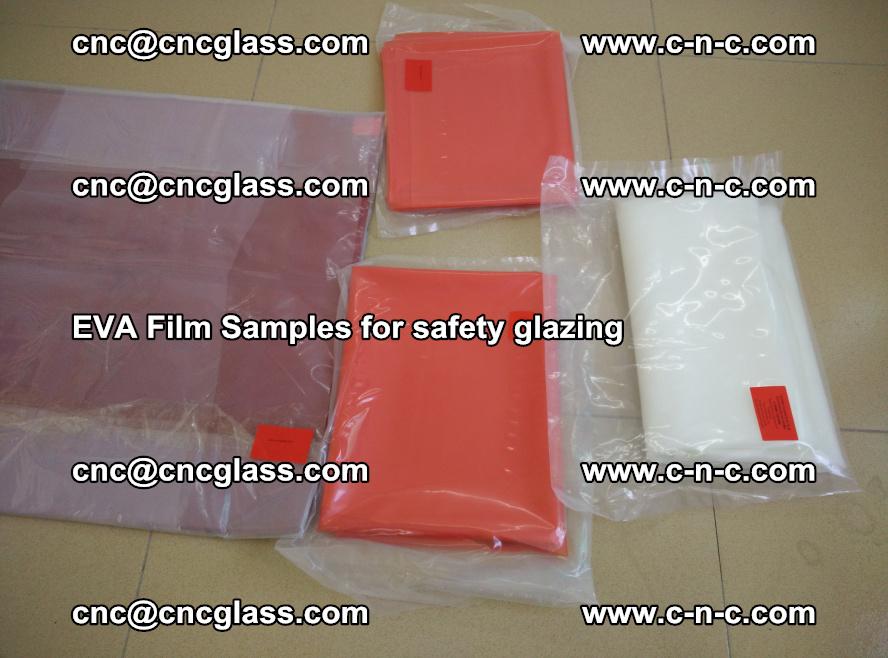 Ethylene Vinyl Acetate EVA FILM INTERLAYER samples for laminated safety glass (57)