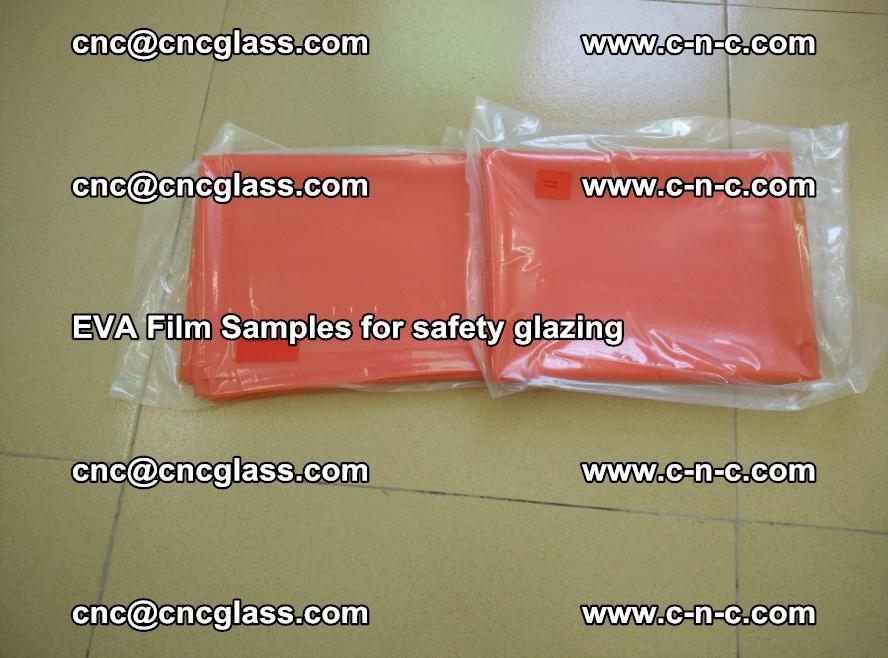 Ethylene Vinyl Acetate EVA FILM INTERLAYER samples for laminated safety glass (6)