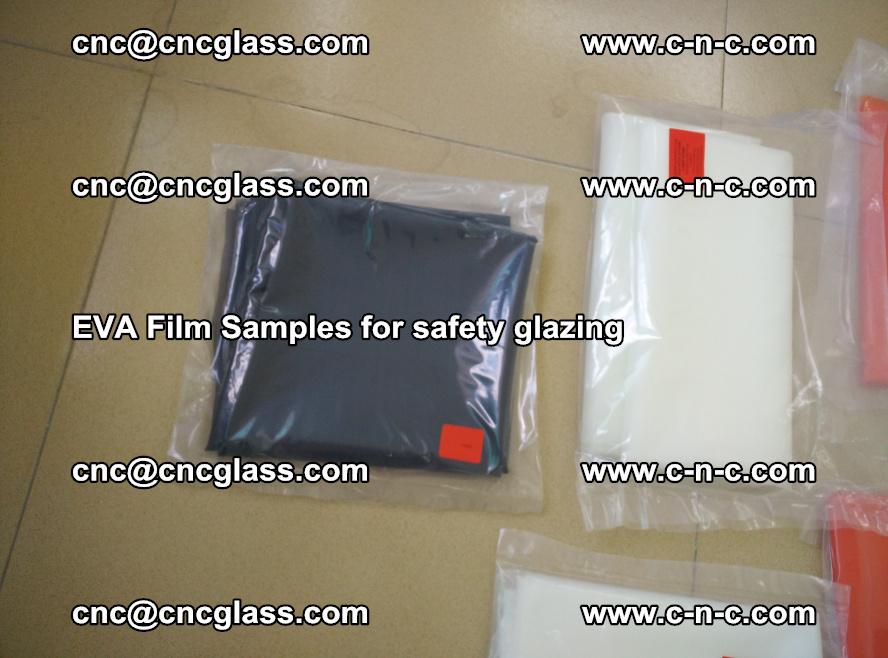 Ethylene Vinyl Acetate EVA FILM INTERLAYER samples for laminated safety glass (70)