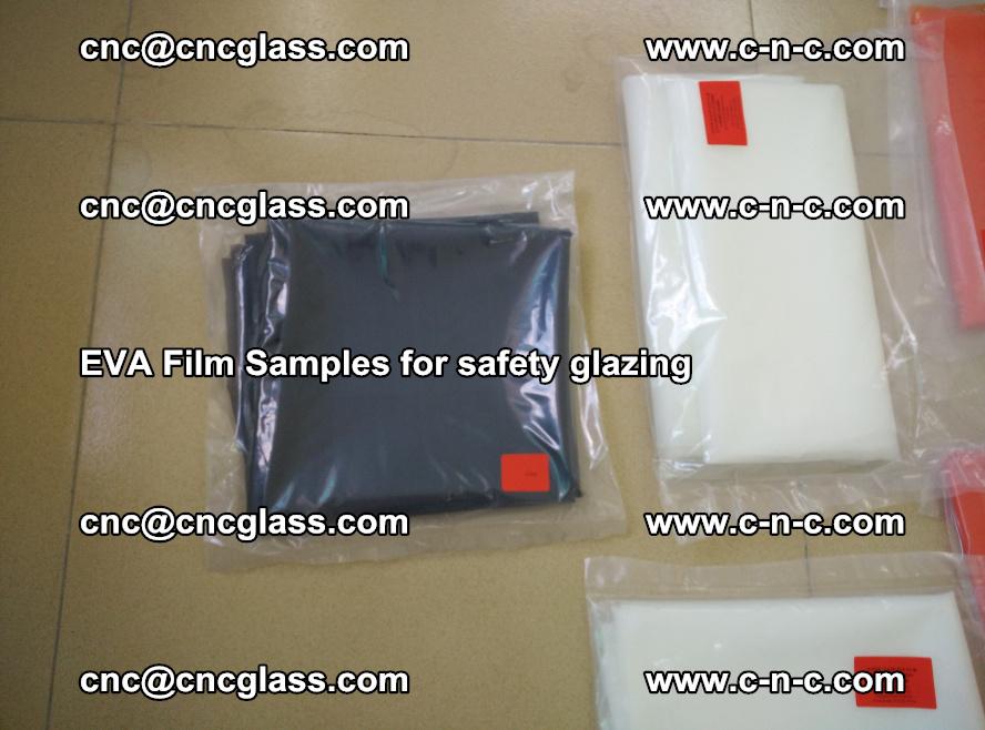 Ethylene Vinyl Acetate EVA FILM INTERLAYER samples for laminated safety glass (72)
